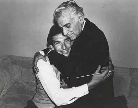 Leonard Bernstein Hugs Michael Tilson Thomas