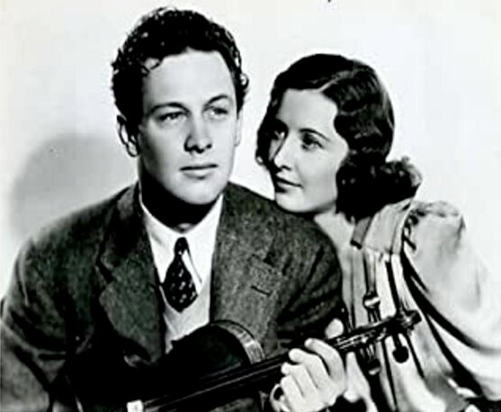 Holden, Stanwyck (Golden Boy, 1939)