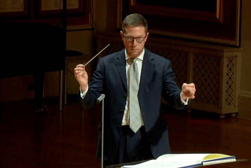 John Wilson Conducting the RAM Oct 2020